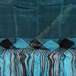 Rebozo artesanal R1 azul turquesa