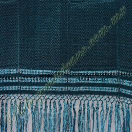 Rebozo artesanal r2 azul turquesa