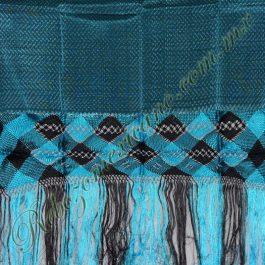 Rebozo artesanal R3 azul turquesa