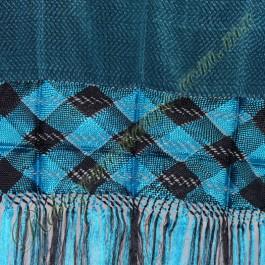 rebozo artesanal R4 Azul Turquesa