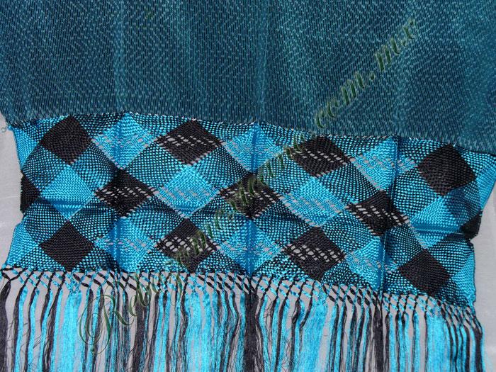 Rebozo R4 azul turquesa