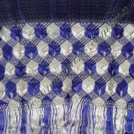 rebozo artesanal R5 Azul Rey