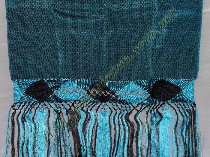 Rebozo R1 azul turquesa