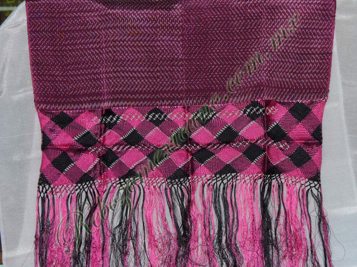 Rebozo R3 rosa mexicano claro