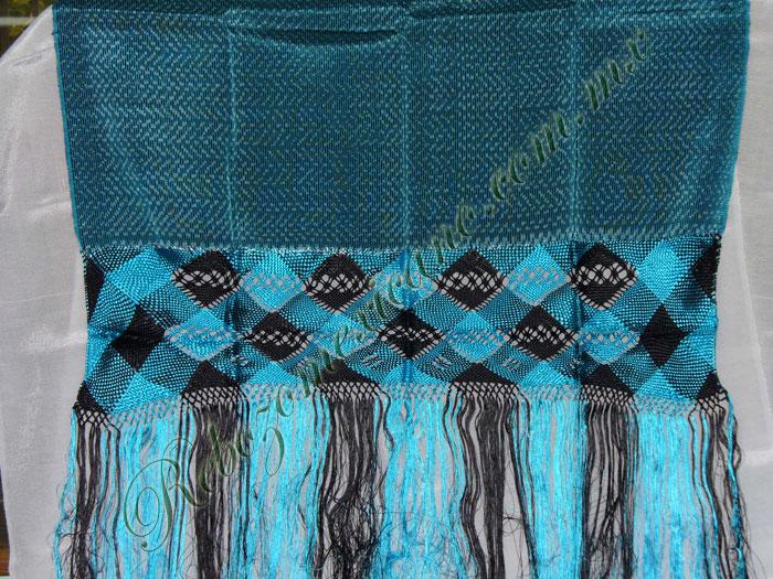Rebozo R3 azul turquesa